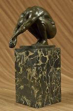 Bronze Sculpture Erotic Nude Man Great Pose Hot Cast Sculpture Figurine Statue