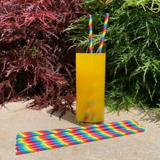 More details for rainbow pride paper drinking straws - made in the uk, eco friendly - party straw