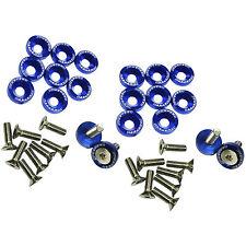 Blue 20pcs Billet Aluminum Fender/Bumper Washer/Bolt Engine Bay Dress Up Kit