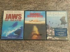 3 Horror DVD Lot! Killer Animals! Mako: Jaws of Death, Sand Sharks, Birdemic NEW