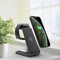 Chargeur sans fil 3 en 1 Dock de charge rapide 10W pour montre Samsung Galaxy