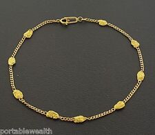 Real Gold Nugget 20k+ Yellow Gold Link Bracelet 14K  Gold Rush