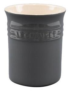LE CREUSET Dark Grey Stone Utensil Jar 15 x 12.5cm