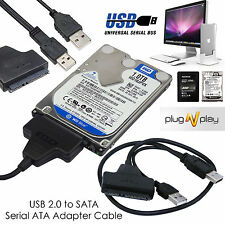 "USB To SATA 2.5"" External Hard Disk Adapter Drive HDD SSD Lead Cable Converter"