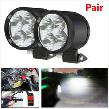 2pc 40W 2980LM White LED Motorcycle Spot Driving Fog Light Headlight Lamp+Switch