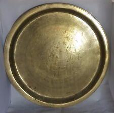 Beautiful Vintage Heavy Oriental Brass Tray