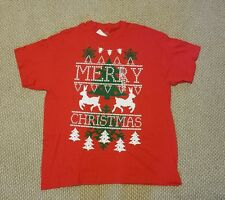"Classic Teaze Unisex Ugly Red T-Shirt ""Merry Christmas"" Size XL NWT"