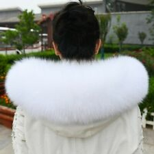 Real Fox Fur Collar Scarf For A Hood Down jacket and Parka Dedicated White Black