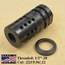 1/2x28 FXC-1 Short Muzzle Brake Compensator .223/5.56/.22 + Crush Washer Compact
