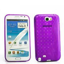 Handy Hülle Samsung Galaxy Note 2 TPU Bumper Case Back Cover Schutz Tasche Lila