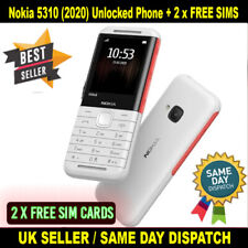 NUOVO Nokia 5310 (2020) Dual SIM sbloccato telefono cellulare-bianco con 2 x libero Sims