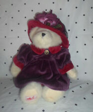 "The Red Hat Society Bear 11"" Plush Soft Toy Stuffed Animal"