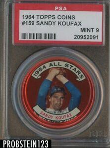 1964 Topps Coins #159 Sandy Koufax Los Angeles Dodgers HOF PSA 9 MINT