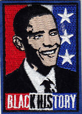 """""""BLACK HISTORY"""" - IRON ON EMBROIDERED PATCH - PRESIDENT O'BAMA - HERITAGE -"""