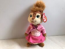 "TY Alvin And The Chipmunks 6"" BRITTANY Plush Doll w/Tag Pink Dress Beanie"