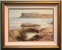 Original Irish Art Oil Painting, FAIR HEAD, ANTRIM COAST, N. IRELAND Signed Art