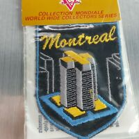 Vintage NOS New Montreal building Ontario Souvenir Canada  Patch Sew on Black
