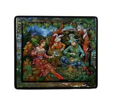 Exquisite Fedoskino Russian Lacquer Box ALICE in WONDERLAND #4102