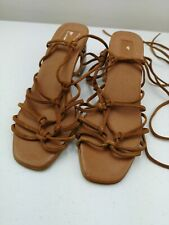 TOPSHOP Gladiator Ladies Women High Heel Brown Sandal Lace Up Shoe Size 6 39
