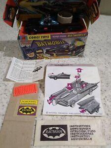 CORGI Batmobile 267 FIRST ISSUE ALL ORIGINAL AND COMPLETE