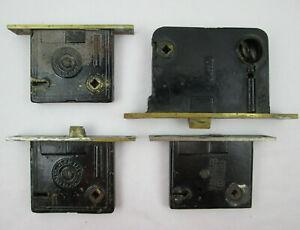 4 Antique Door Rim Box Locks for REPAIR REFURBISHMENT PARTS  R&E Russwin Sargent