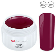 Color UV Gel LED FARBGEL RED BROWN French Modellage Nail Design Nagel Rot Braun