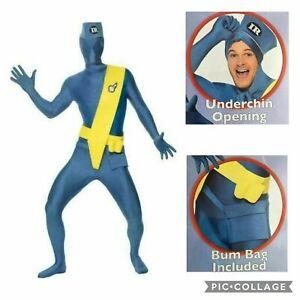 Thunderbirds Virgil Second Skin Costume Smiffy's Mens Adult Fancy Dress Large L