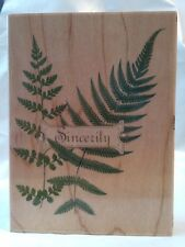 All Night Media Anna Griffin Frond Fern Leaf Palm Branch Sincerity Rubber Stamp
