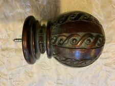 """Tuscan French Copper Brown Fancy Ball Finial Tieback 4.25""""L Paris Texas Hardware"""