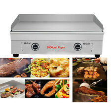 Techtongda Commercial Kitchen Countertop Flat Griddle Grill 2800pa Lp Gas Cook