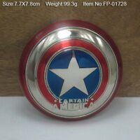 U.S.A.Captain America Shield Metal Belt Buckle Fashion Antique Mens Jewelry