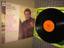 Andy Williams. Born Free LP. CBS 63027. 1967. Exc.