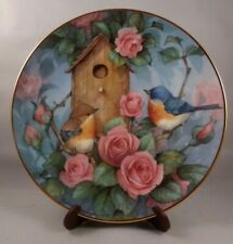 """Franklin Mint Heirloom 8"""" Bird collectors plate """"Settling In"""" Royal Doulton"""