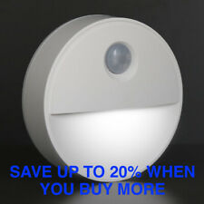 Cool White LED Motion Sensor Night Light Indoor Battery powered Stairs Hallway