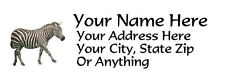 "30pcs Personalized Zebra Return/Mailing Address labels 1""x2.625"" Free S/H"
