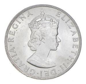 Choice BU Unc 1964 Bermuda 1 Crown Silver Coin - Mint State *772