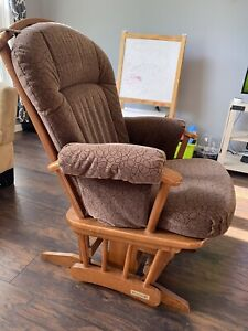 Dutailier Glider with Custom Made Brown Cushions