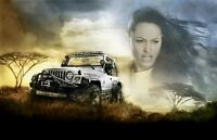 Lara Croft Tomb Raider movie poster 11 x 17 inches Anjelina Jolie poster (jeep)
