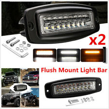 2Pcs 7.3 Inch 54W Dual Color Car Off-Road 4x4 Combo LED Work Light DRL Fog Light