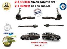 Per BMW 5 F10 F11 2009 - > 2X 2X + Esterno Interno Rack Sterzo Pista Tiranti Estremità