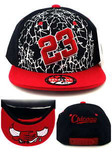 Chicago New Greatest 23 MJ Youth Kid Jordan Bulls Black Red Era Snapback Hat Cap