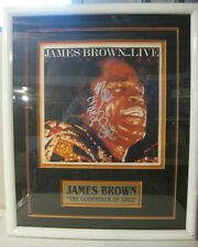 JAMES BROWN Live LP Cover Autographed Signed and Framed - AUTHENTIC