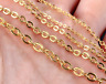 Wholesale In Bulk Anti-Tarnish Gold Stainless Steel Cable Rolo Chain Oval Link