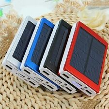 30000mAh Solar Battery Charger Cell Phone Mobile Portable Dual USB Power Bank