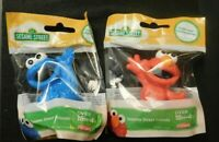 PLAYSKOOL SESAME STREET COOKIE MONSTER AND ELMO FIGURES!    e702HXX