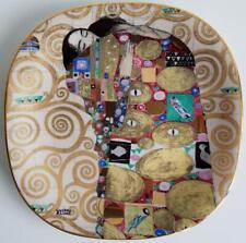 Gustav klimt Teller Dessertteller die Erfüllung Porzellan Sammelteller 20 x 20cm