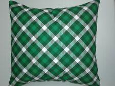 Throw Pillow Cover, Green Tarleton Plaid, Decor, St. Patrick's Day, Irish