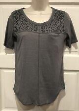 Lululemon Runaway Tee Womens Size 4 Shirt Heathered Slate Gray Short Sleeve