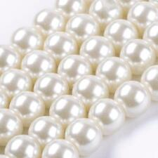 110 BULK Beads Round Glass Beads Ivory Glass Pearls 8mm Beads Wholesale