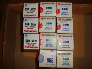 12 NOS G.E. DDB Projector Lamp 750W, 115-120V Projection Lamp Bulb Type DDB/DDW